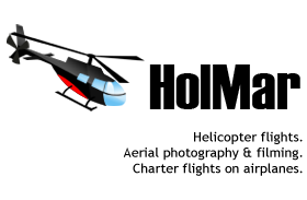 Helicopter flights, aerial photography, filming from air - HolMar Invest O�